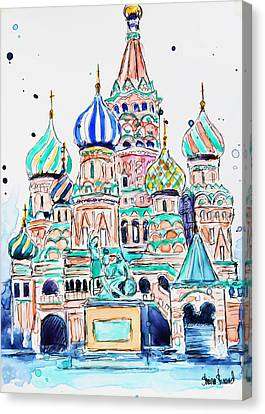 Russia, St. Basil Canvas Print by Shaina Stinard