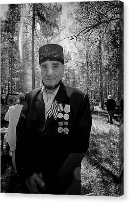 Canvas Print featuring the photograph Russian Afghanistan War Veteran by John Williams