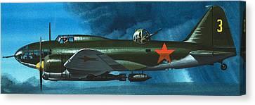 Russian Aircraft Of World War Two  Russian Ilyushin Bomber Canvas Print by Wilf Hardy