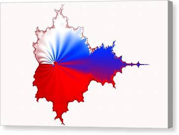 Russian Fractal Curve Canvas Print