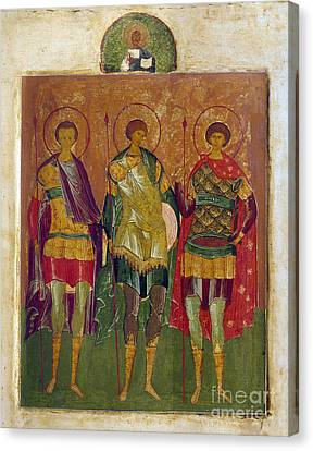 Russian Icon: Saints Canvas Print by Granger