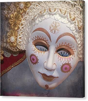 Russian Mask 4 Canvas Print by Jeff Burgess