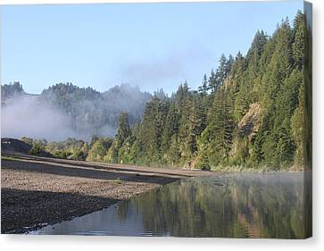 Russian River Morning Glow Canvas Print