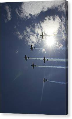 Canvas Print featuring the photograph Russian Roolettes And Sydney Sun by Miroslava Jurcik
