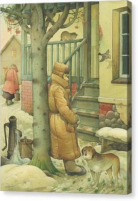 Russian Scene 10 Canvas Print by Kestutis Kasparavicius