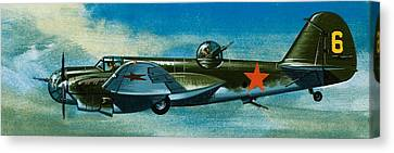 Russian Tupolev Bomber Canvas Print by Wilf Hardy