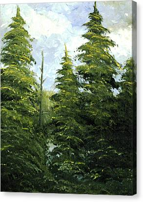 Russian Woods Canvas Print by Eleonora Mingazova