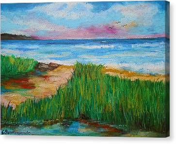 Russland Beach / Sweden Canvas Print