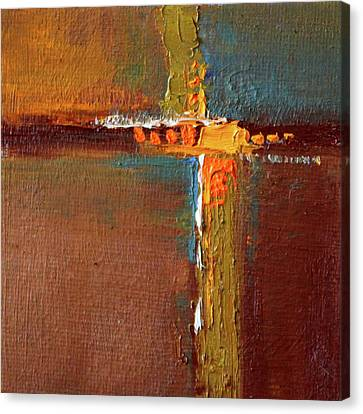 Canvas Print featuring the painting Rust Abstract Painting by Nancy Merkle