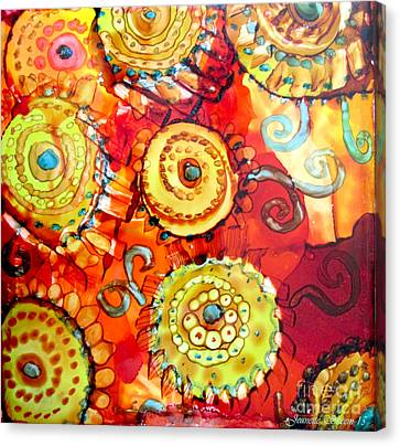 Rust And Gears Canvas Print by Jeanette Skeem