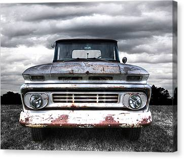 Rust And Proud - 62 Chevy Fleetside Canvas Print by Gill Billington