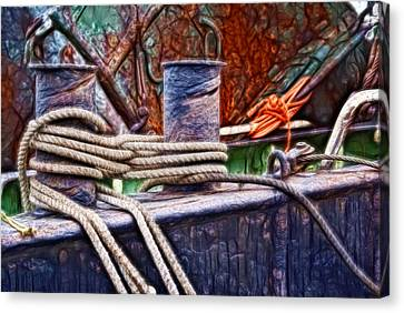 Rust And Rope Canvas Print