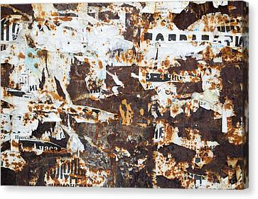 Canvas Print featuring the photograph Rust And Torn Paper Posters by John Williams