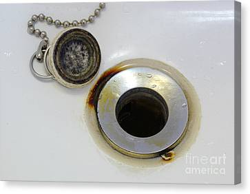Stopper Canvas Print - Rust Around Sink Drain by Scimat