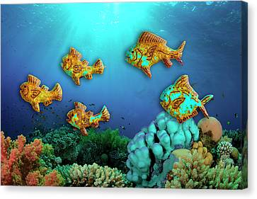 Canvas Print featuring the photograph Rust Fish by Paul Wear