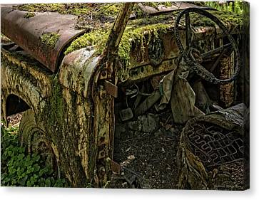 Log Cabin Interiors Canvas Print - Rust In Piece by Expressive Landscapes Fine Art Photography by Thom