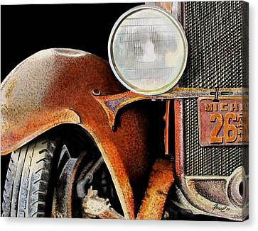 Rusted Cars Canvas Print - Rust Never Sleeps by Ferrel Cordle