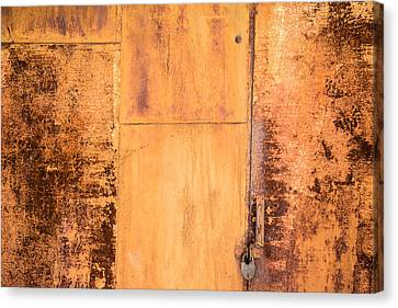 Canvas Print featuring the photograph Rust On Metal Texture by John Williams