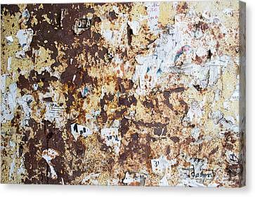 Canvas Print featuring the photograph Rust Paper Texture by John Williams
