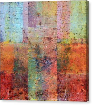 Canvas Print featuring the painting Rust Study 1.0 by Michelle Calkins