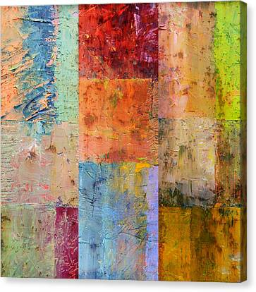 Canvas Print featuring the painting Rust Study 2.0 by Michelle Calkins