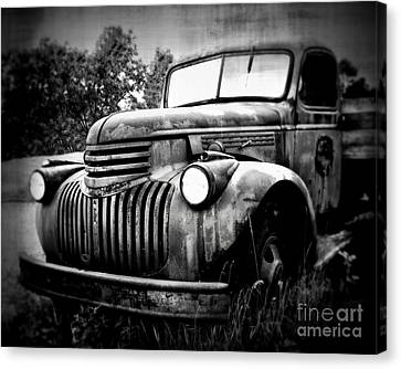 Rusted Flatbed Canvas Print by Perry Webster