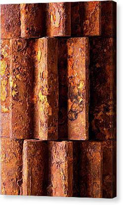 Rusted Gears 2 Canvas Print by Jim Hughes
