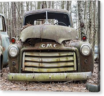 Rusted Gmc Pickup Truck Canvas Print by Robert Myers