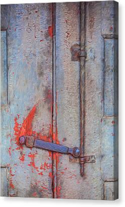 Rusted Iron Door Handle Canvas Print