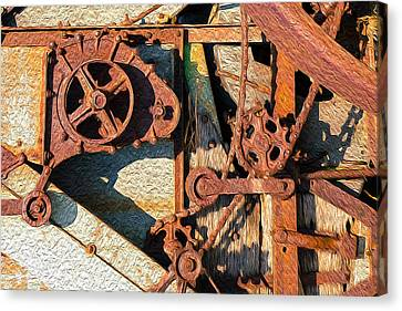 Rusted Reaction Canvas Print