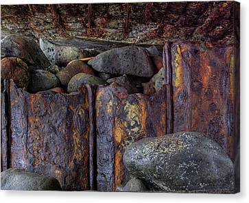 Canvas Print featuring the photograph Rusted Stones 3 by Steve Siri