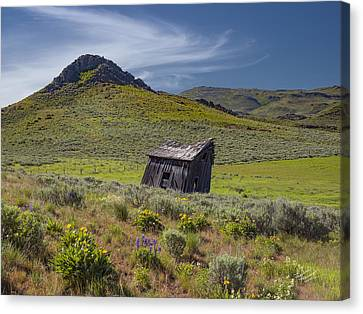 Old Cabins Canvas Print - Rustic And Weathered by Leland D Howard