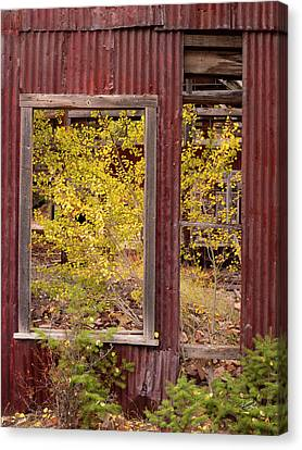 Canvas Print featuring the photograph Rustic Autumn by Leland D Howard