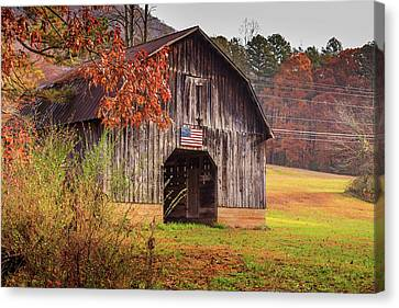Rustic Barn In Autumn Canvas Print
