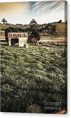 Rustic Barn In Lush Green Farmland Canvas Print by Jorgo Photography - Wall Art Gallery