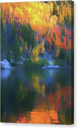 Rustic Bear Lake Colorado Autumn Reflection Canvas Print