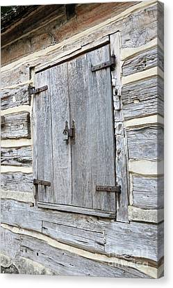 Rustic Cabin Window Canvas Print by Carol Groenen