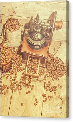 Rustic Country Coffee House Still Canvas Print