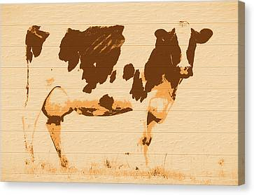 Hamburger Canvas Print - Rustic Cow Barn Door by Dan Sproul
