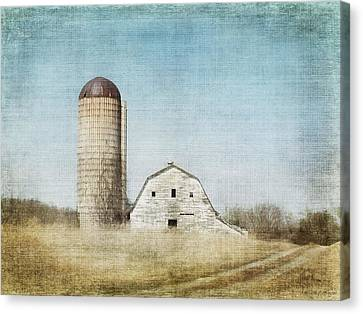 Rustic Dairy Barn Canvas Print by Melissa Bittinger