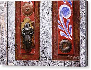 Rustic Door Canvas Print by Jeremy Woodhouse