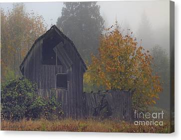 Rustic Fall Canvas Print by Larry Keahey