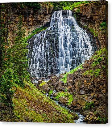 Canvas Print featuring the photograph Rustic Falls  by Rikk Flohr