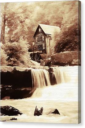 Rustic Glade Creek Grist Mill Canvas Print by Dan Sproul