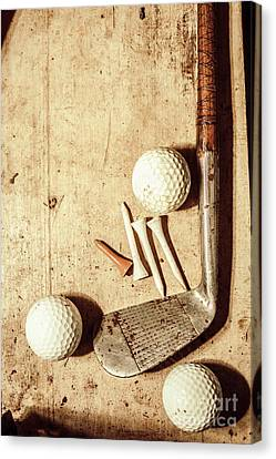 Rustic Golf Club Memorabilia Canvas Print by Jorgo Photography - Wall Art Gallery