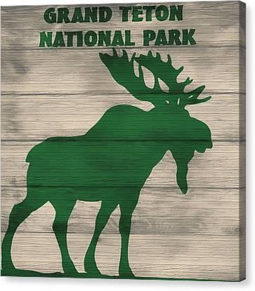 Rack Canvas Print - Rustic Grand Teton Moose by Dan Sproul