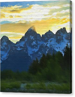 Rustic Grand Teton Sunset Canvas Print
