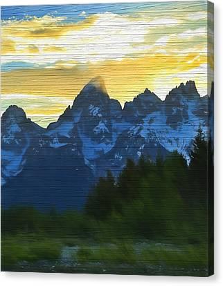 Rustic Grand Teton Sunset Canvas Print