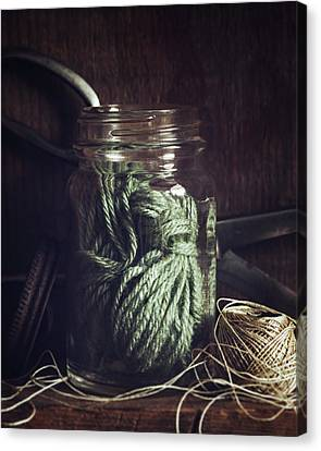 Rustic Green Canvas Print by Amy Weiss