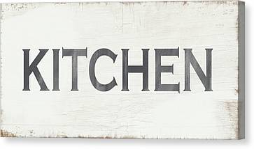 Rustic Kitchen Sign- Art By Linda Woods Canvas Print